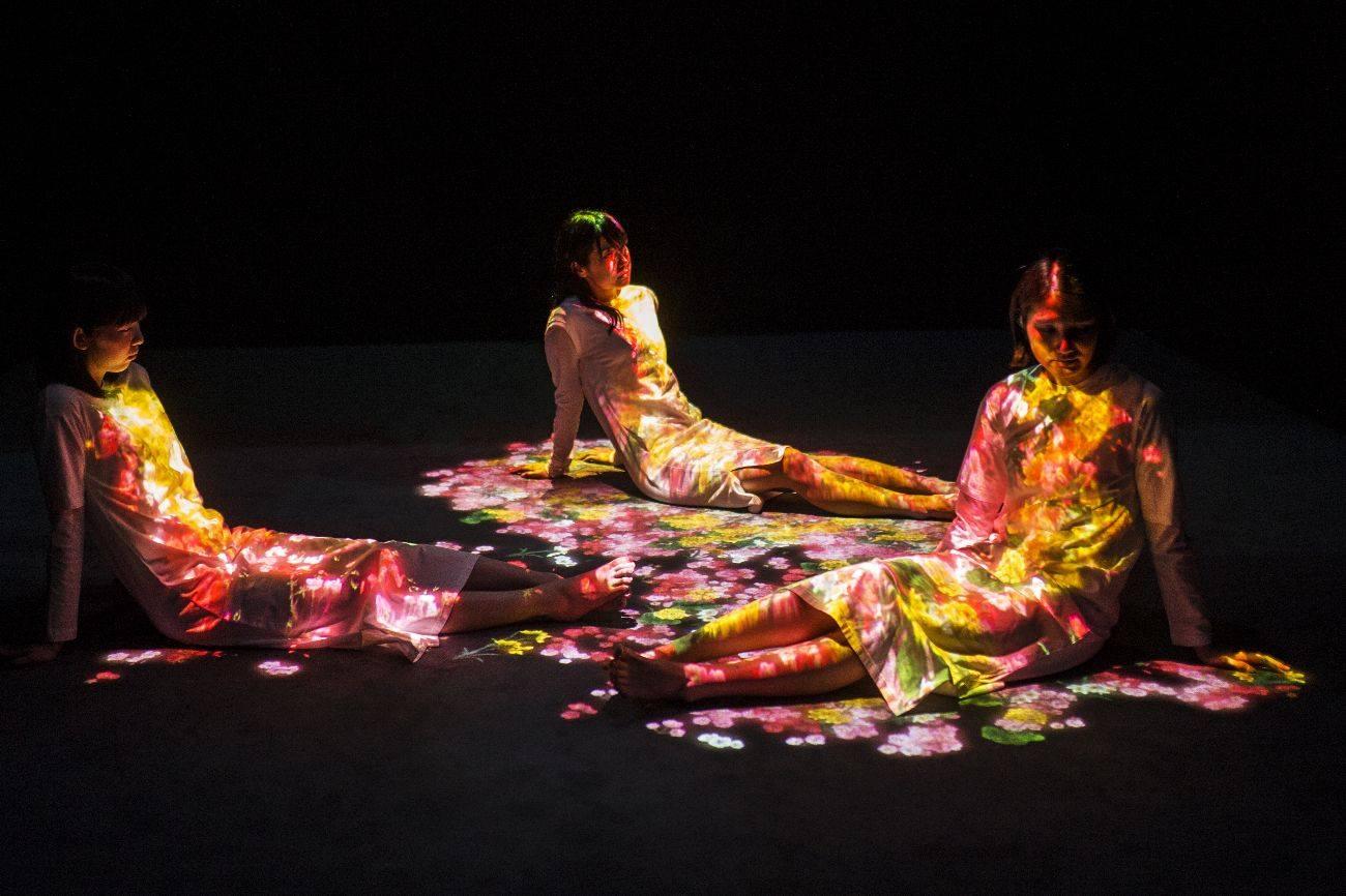Flowers Bloom on People, Музей за дигитално изкуство MORI