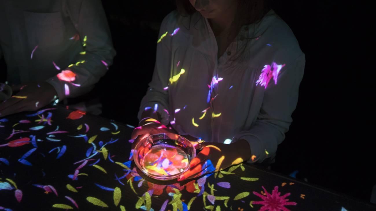 Flowers bloom in an Infinite Universe inside a Teacup, Музей за дигитално изкуство MORI