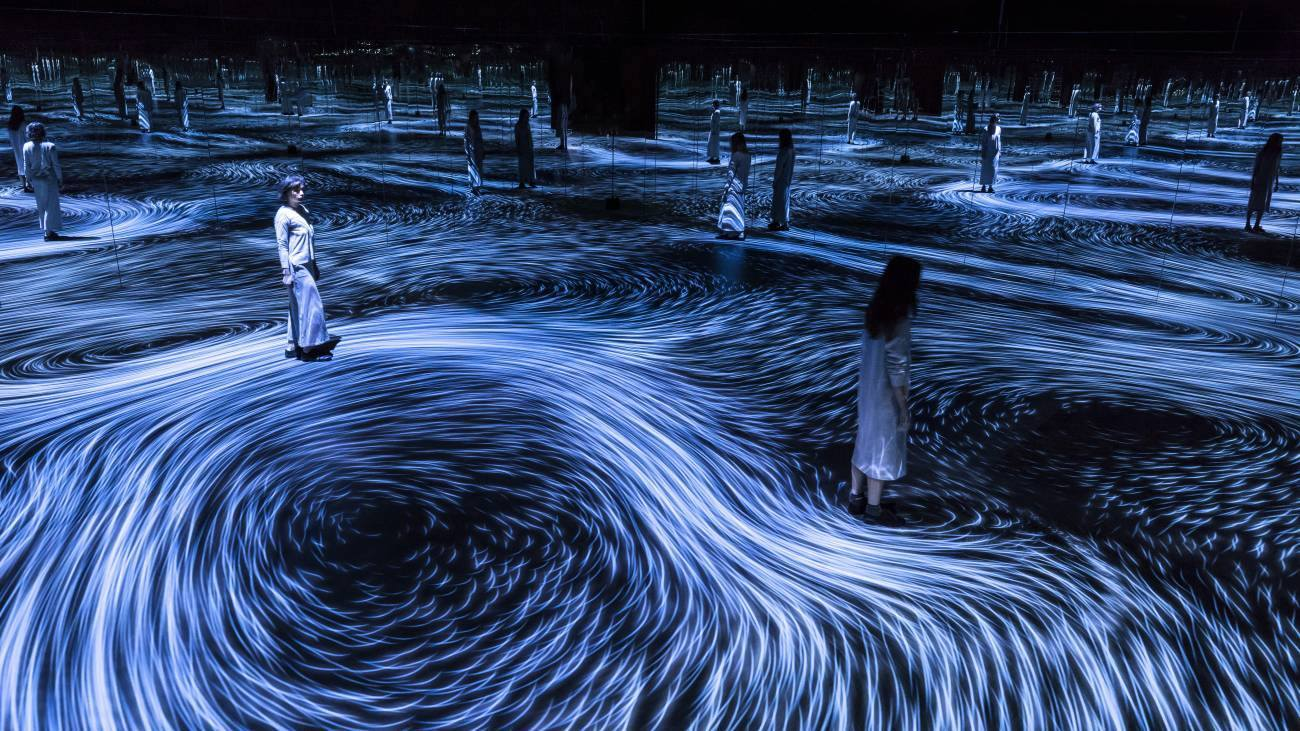 """Moving Creates Vortices and Vortices Create Movement"", Музей за дигитално изкуство MORI"
