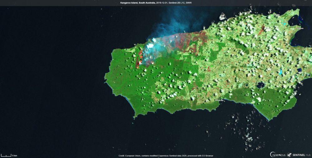 Satelitni Snimki Pokazvat Posledicite Ot Pozharite V Avstraliya