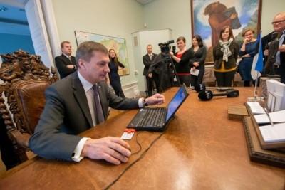 Министър-председателят на Естония Андрус Ансип