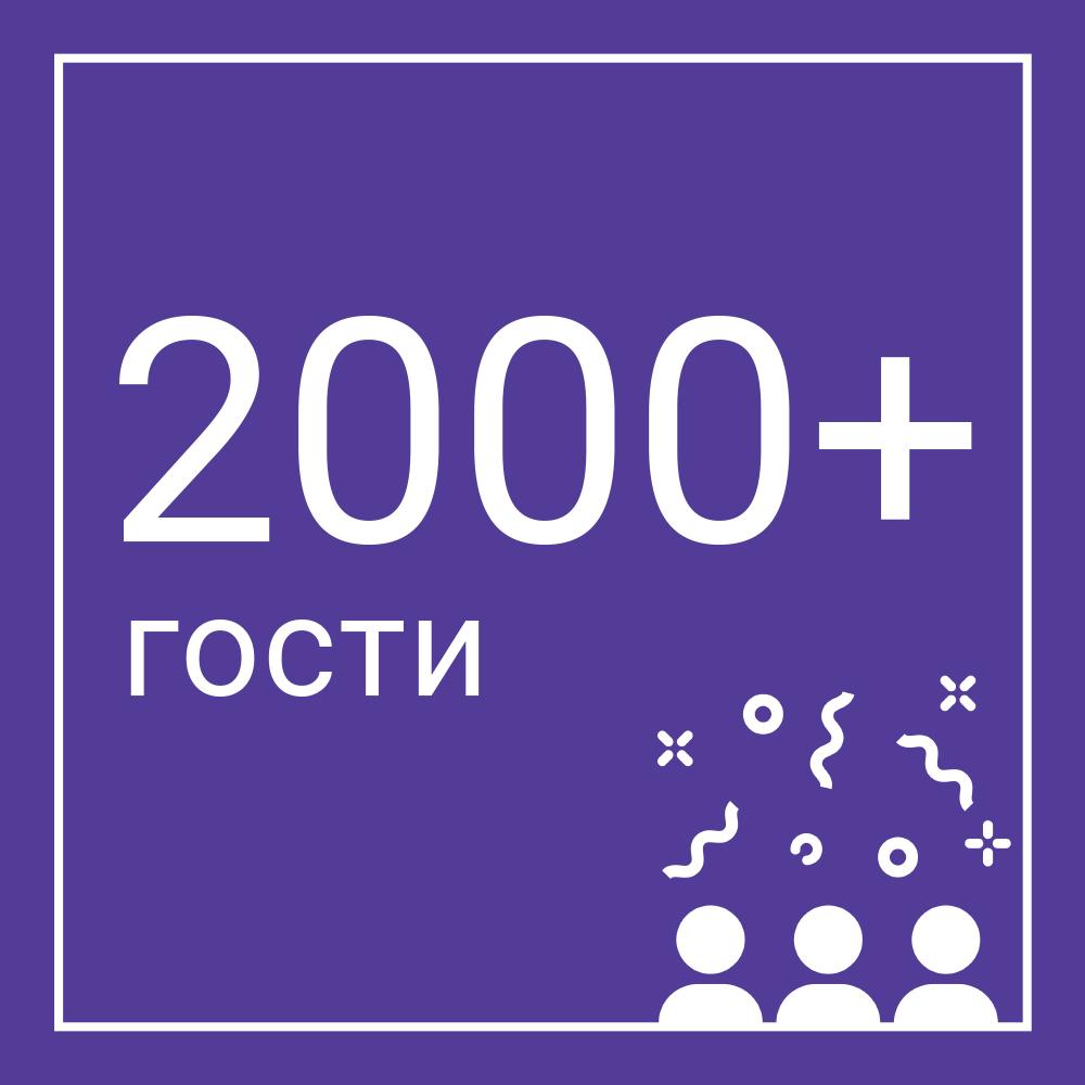 2000 guests